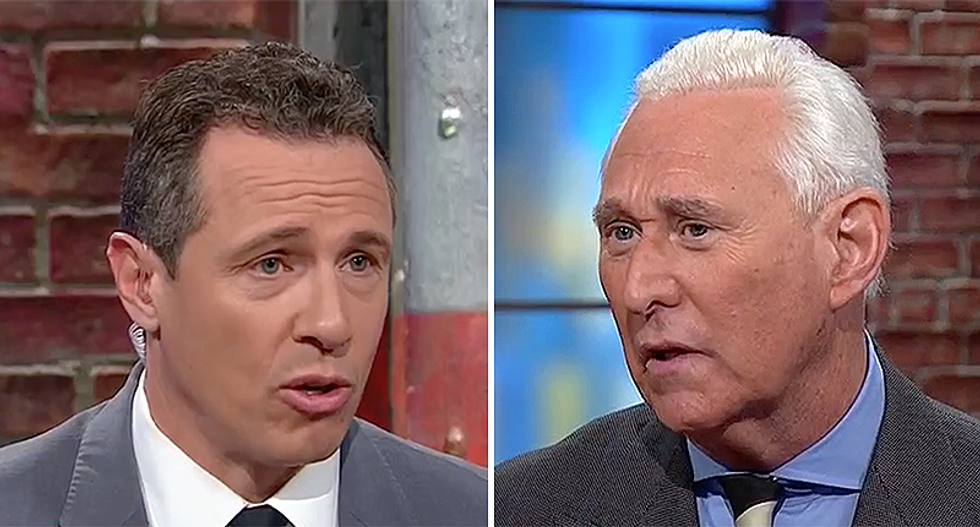 Roger Stone goes down in flames whining about YouTube to CNN's Chris Cuomo