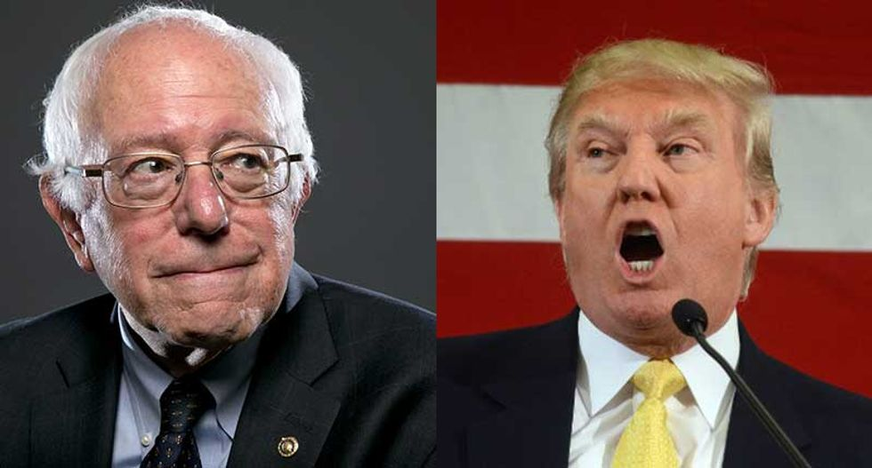 Bernie Sanders and Donald Trump have perfected the 'I'm mad as hell' rhetorical style