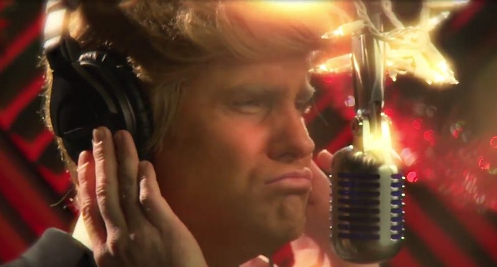 Donald Trump's 'White Christmas' takes on a new meaning in Funny or Die spoof