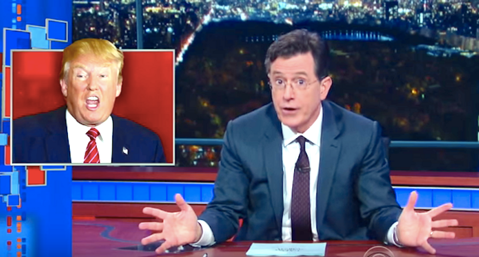 Stephen Colbert: Trump's 'willing to offend every group in America except white people' to get free airtime