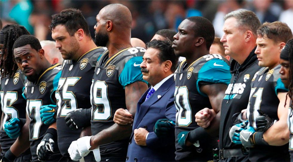 'These ingrates must be deported': Twitter racists attack NFL's only Muslim owner for standing with players