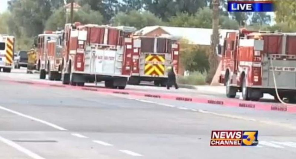 Calif. mosque leaders say blaze inside building was caused by 'fire-bombing'