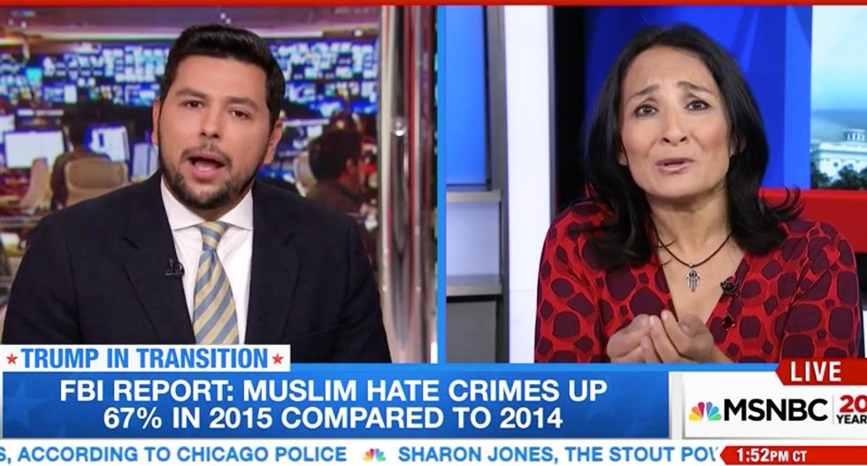 Pro-Trump Muslim whines about 'bias' when asked why she blames victims of anti-Islam hate attacks