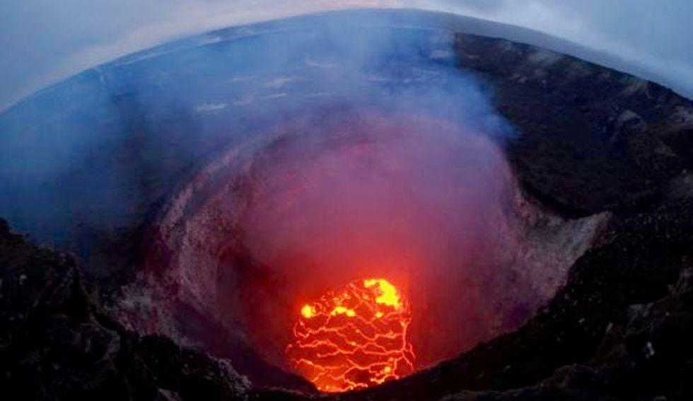 Lava creeps onto geothermal plant site on Hawaii's Big Island