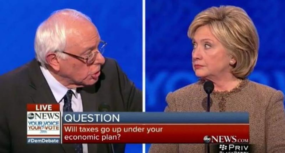 Clinton and Sanders clash after she accuses him of giving gun makers 'blanket immunity'