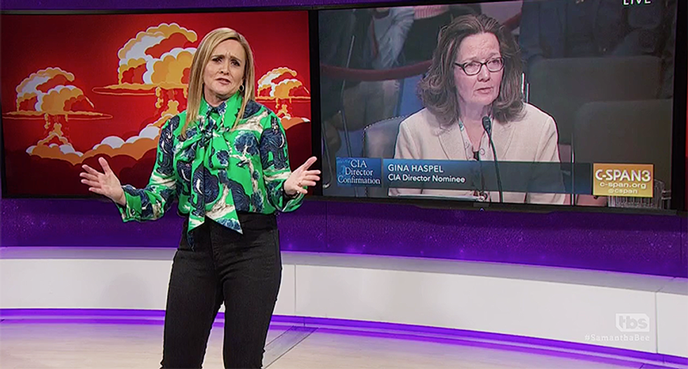 Samantha Bee: 'Man, getting answers out of Trump's CIA nominee is torture'