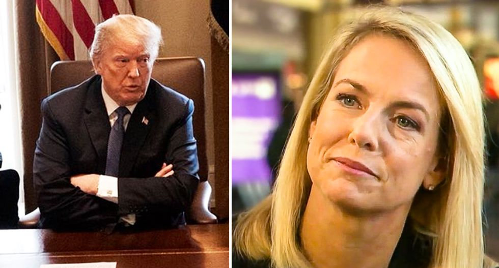 Homeland Security head Kirstjen Nielsen close to resigning after Trump berated her in front of cabinet members: report