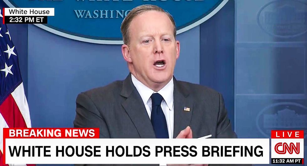 WATCH LIVE: Trump spokesman Sean Spicer holds White House press briefing