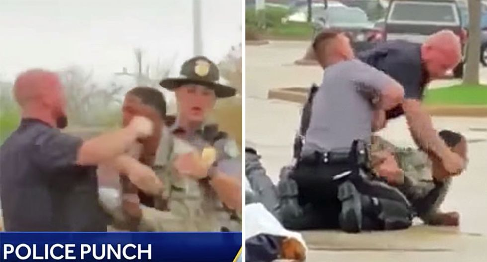 WATCH: White Wisconsin cop caught on video punching defenseless black teen in mall parking lot altercation