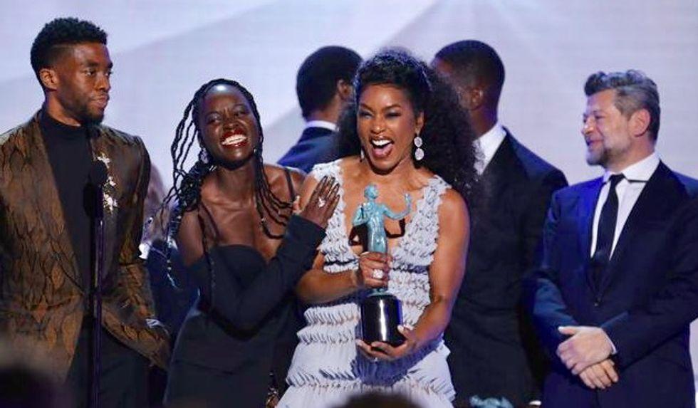 'Black Panther' takes top SAG awards prize, elevating Oscar chances