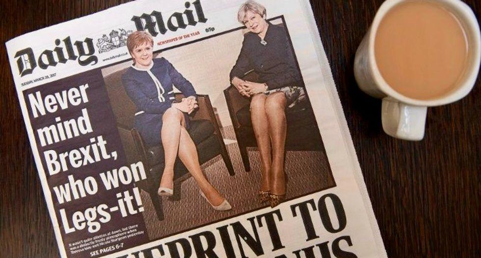 Backlash over Brexit battle of the legs headline