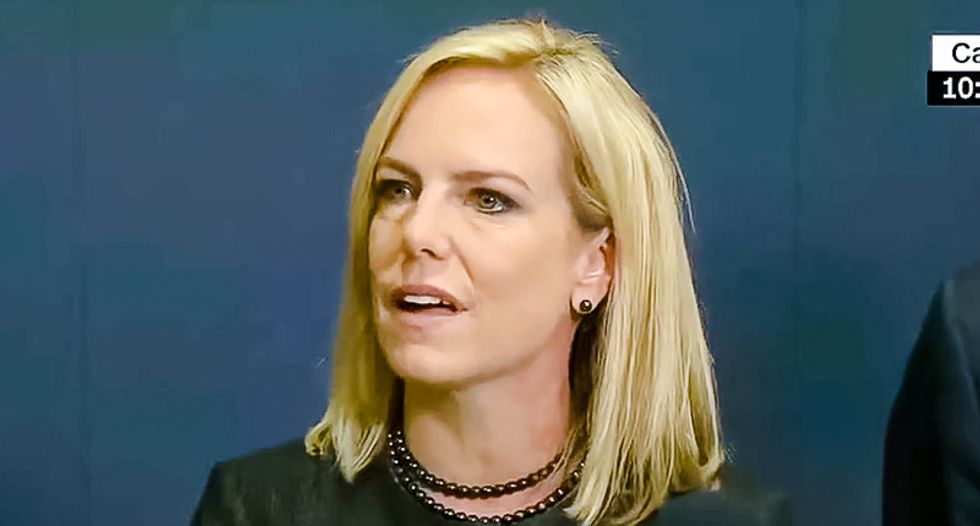 WATCH: Kirstjen Nielsen gets chased out of Mexican restaurant by DSA activists