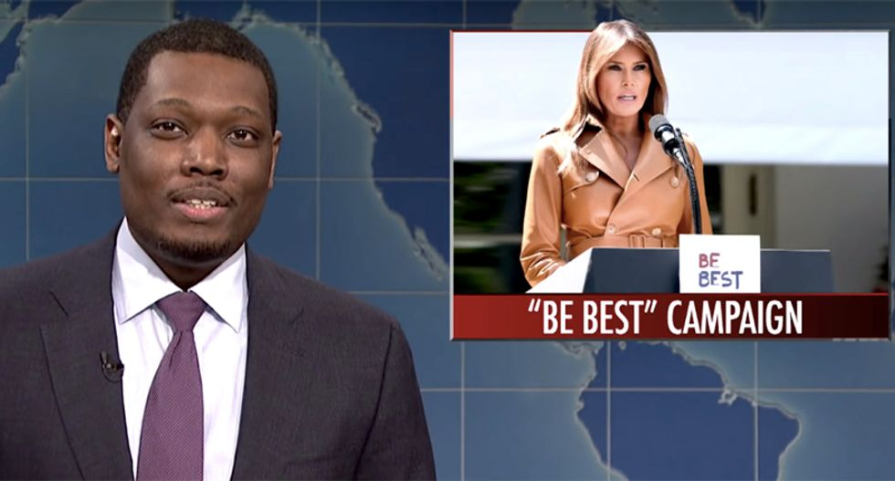 SNL's 'Weekend Update' host Michael Che ridicules Melania's 'Be  Best' campaign -- and has some advice for her