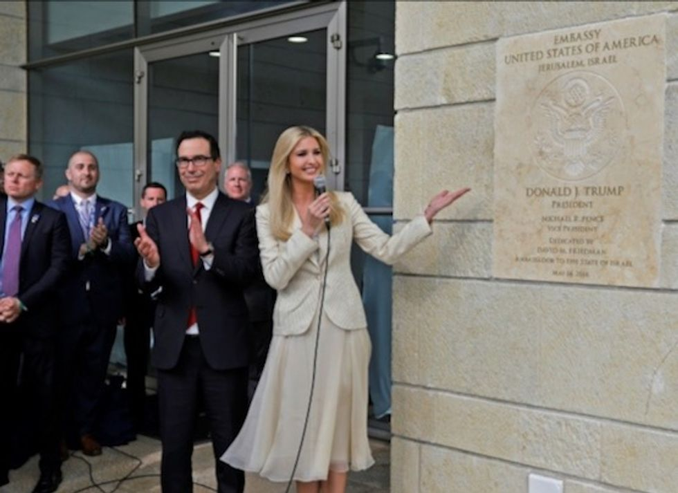US officially opens its Jerusalem embassy in ceremony