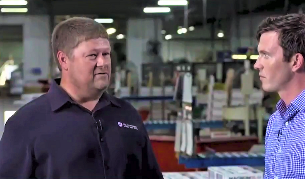 'Save our jobs!' Nail plant worker begs Trump to end the trade war that is killing his company