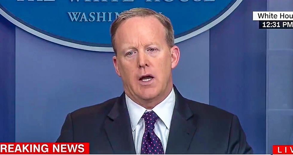 Sean Spicer won't say if Trump is still concerned military action in Syria will start WWIII