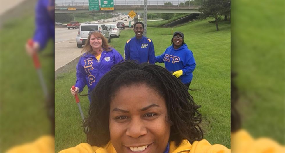 Cop accuses black sorority students of 'fighting' -- but they were doing community service