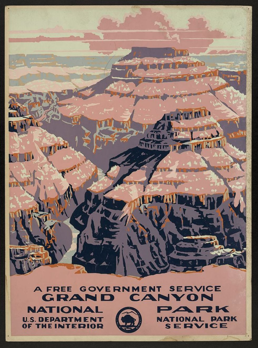 WPA poster of the Grand Canyon