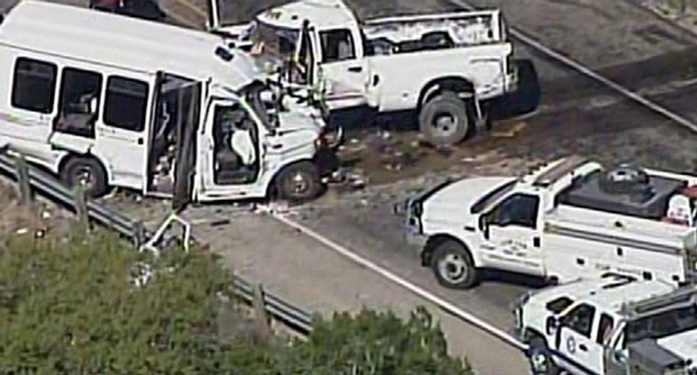 At least 12 killed after Texas church bus crash