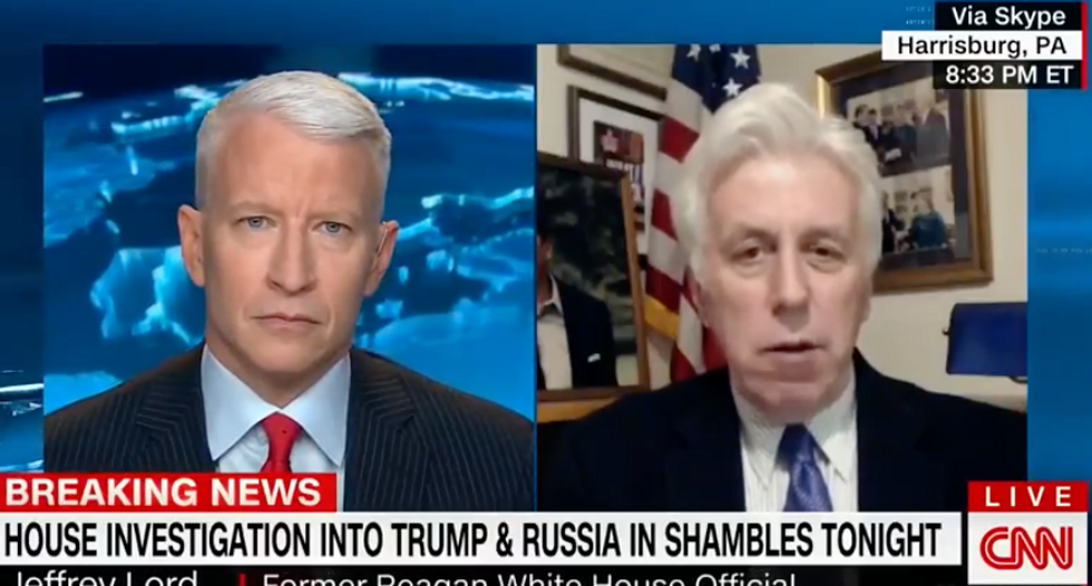 CNN panel incredulous after Jeffrey Lord calls for an investigation into Pelosi 'colluding' with Schiff