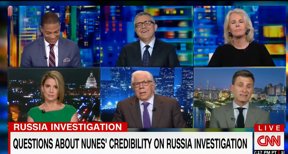 WATCH: CNN panel laughs out loud at idea Nunes has credibility because Americans don't care about Russia