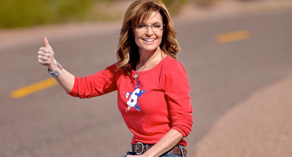 Sarah Palin found something else to quit -- and it isn't her asking for money