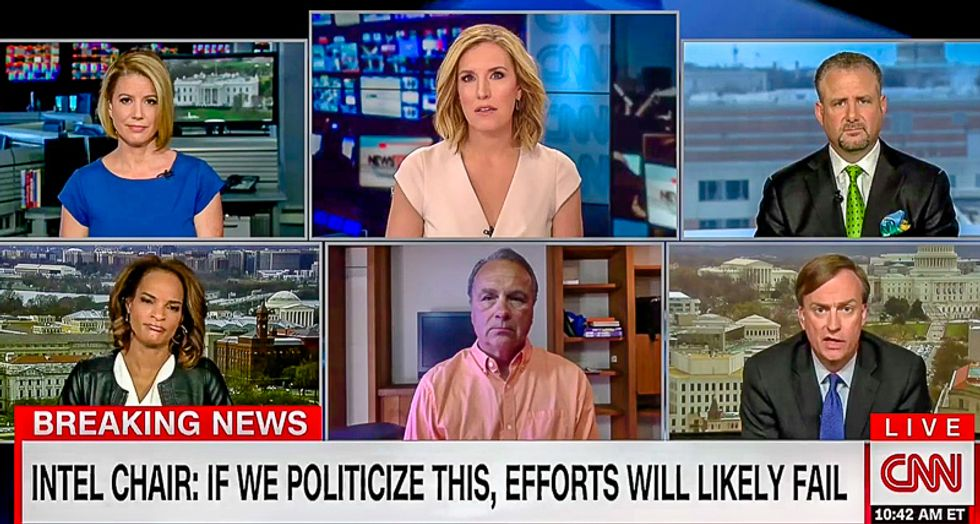 'Just a point of fact': CNN's Poppy Harlow squashes GOP intel official who says Russia 'favored' Clinton