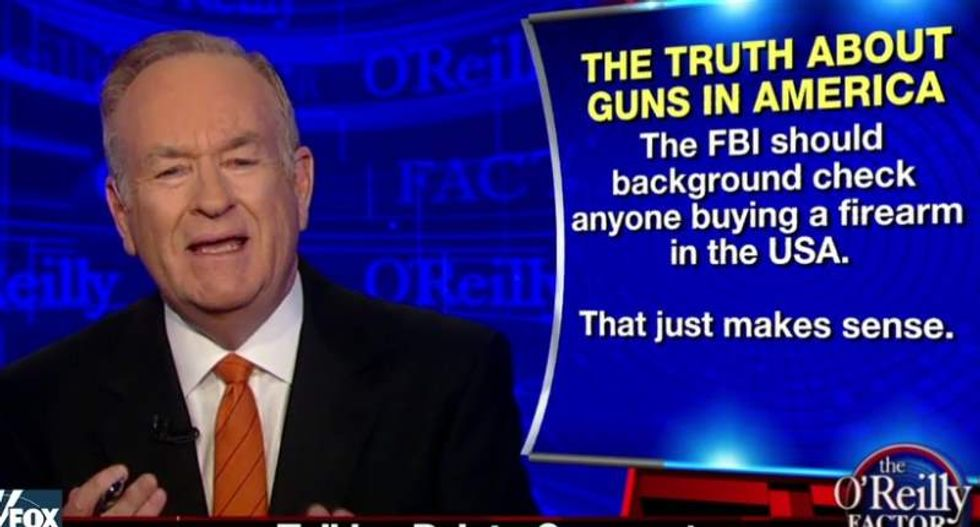 Even Bill O'Reilly says the NRA should stop being 'paranoid' about Obama's gun order