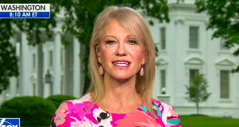 Kellyanne Conway goes on Fox News and lies about the purpose of the Mueller investigation