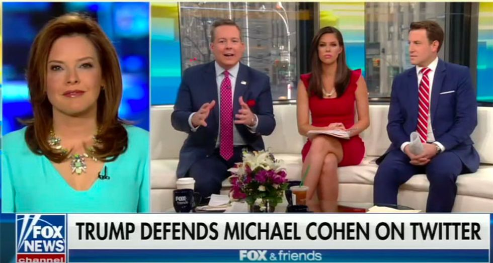 WATCH: Fox host confronts defensive White House spokesperson over Trump tweets attacking NYT's Haberman