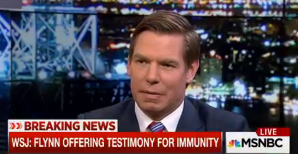 'Innocent people don't ask for immunity': Rep. Eric Swalwell slams Flynn's proposed immunity deal