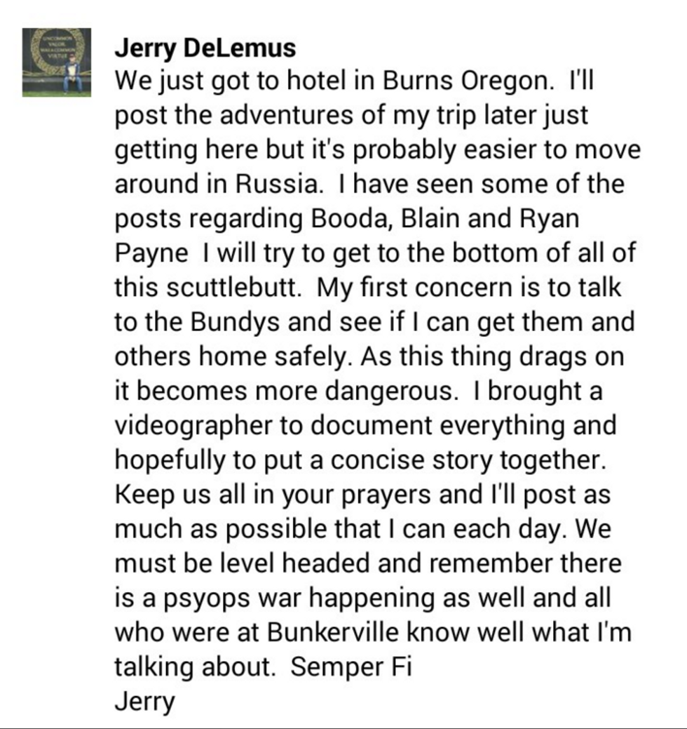 Jerry DeLemus Facebook post