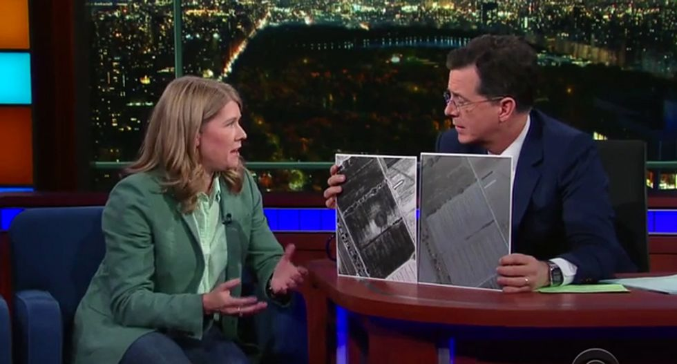 WATCH: Stephen Colbert's fascinating interview with pyramid-discovering 'space archaeologist' Sarah Parcak