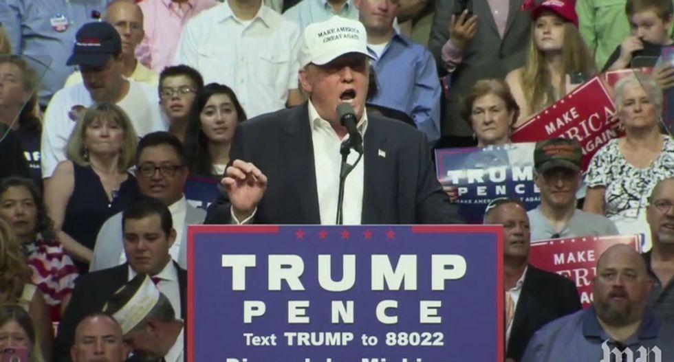 WATCH: Trump speaks live from Iowa at Sen. Joni Ernst's 'Roast and Ride'