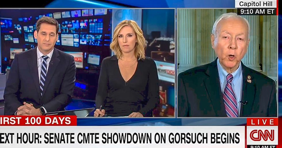 'That's total BS': Sen. Orrin Hatch loses it on CNN after he's accused of Supreme Court 'double standard'