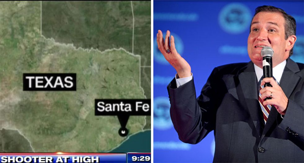 'Sending thoughts and prayers that you don't get reelected': Ted Cruz slammed for response to another mass shooting in Texas
