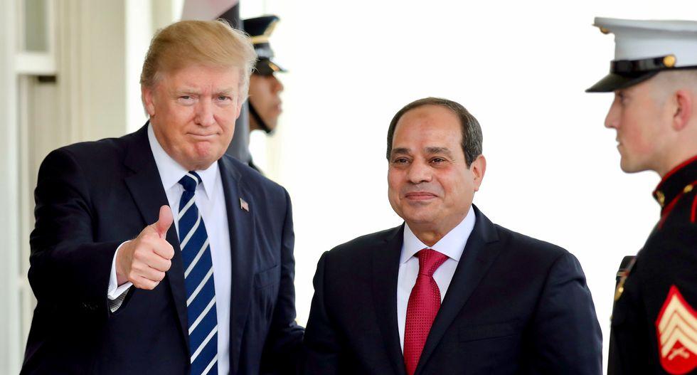 Trump congratulates Egypt's Sisi after dubious vote