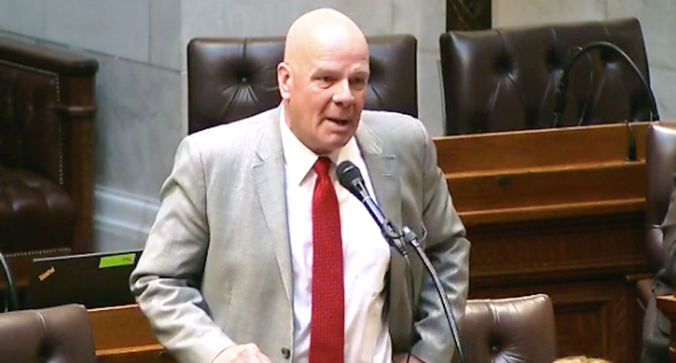 Wisconsin Republican flips off Democrats who called him out for racist statements on crime