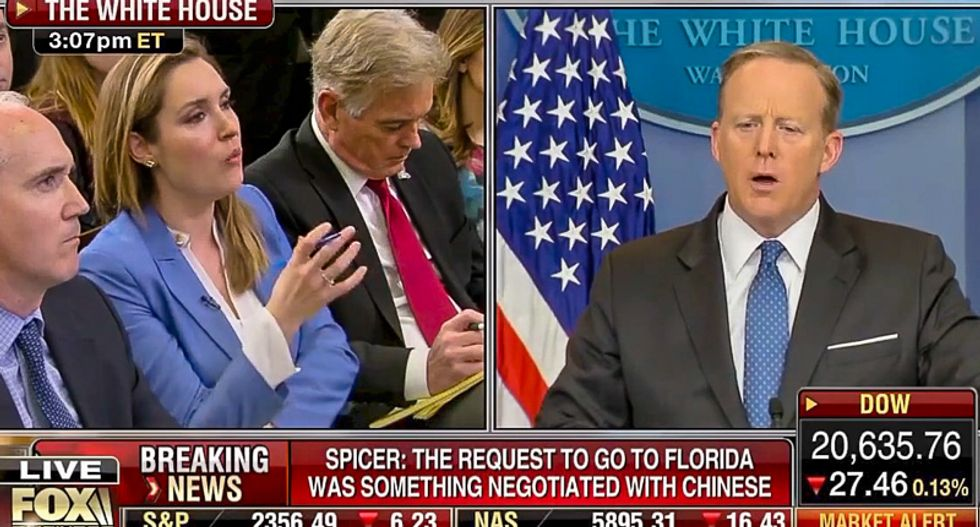 CBS reporter grills Sean Spicer on Jared Kushner: 'White House isn't meant to be run as a family business'