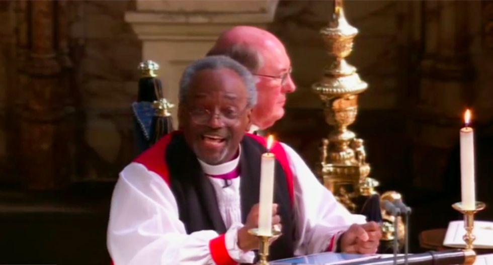 Watch American bishop Michael Curry wow the royal wedding crowd with a stirring sermon about love