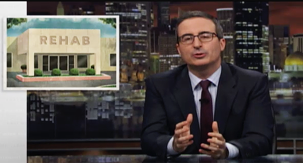 John Oliver calls 'bullsh*t' on scam of unregulated rehab centers who claim cures while sending patients off to die