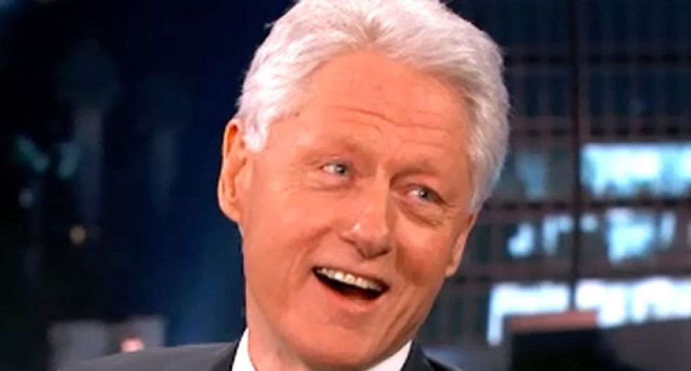 Bill Clinton turns traffic jam into metaphor for ripping Trump at NJ rally