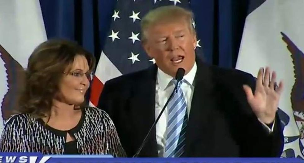WATCH: Palin joins Trump at Iowa rally in official endorsement announcement