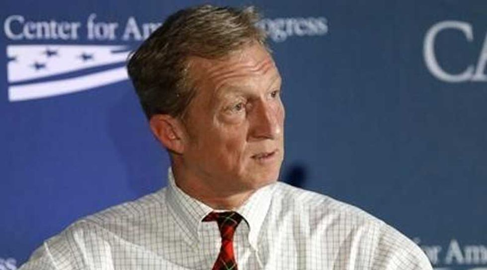 Billionaire environmental activist Tom Steyer says he's not ready to back Clinton -- and is open to Sanders