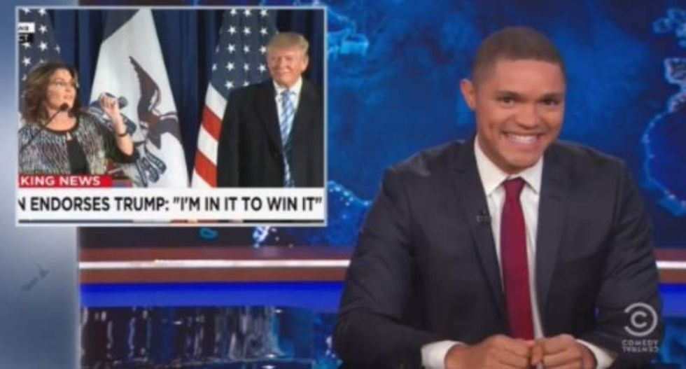Trevor Noah: Palin's bonkers speech at Trump rally was like a bag of Scrabble tiles came to life