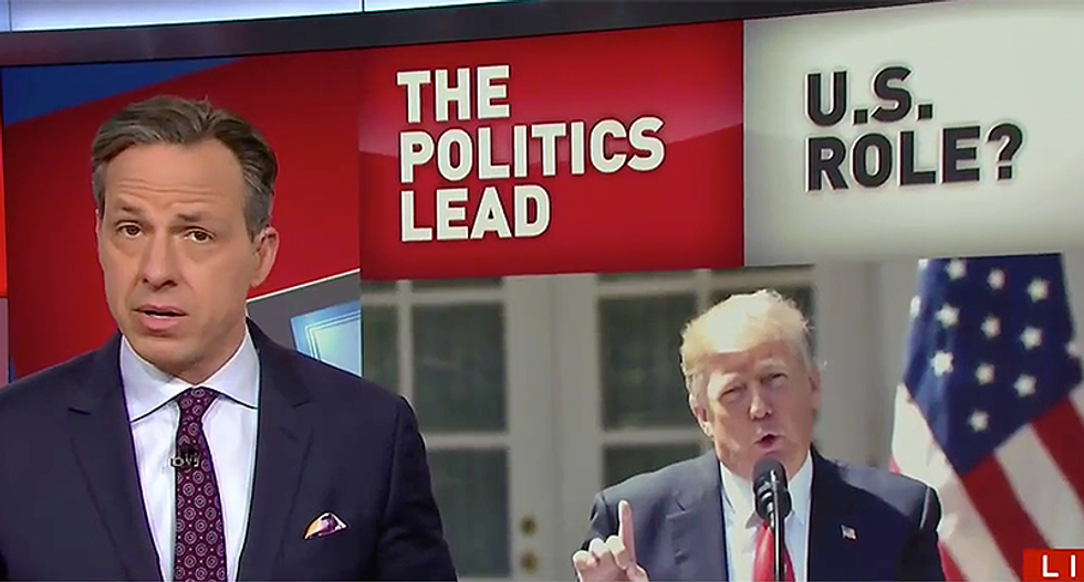 Tapper slams Trump for laying blame for Syria on Obama: What criticism 'can President Trump credibly make?'