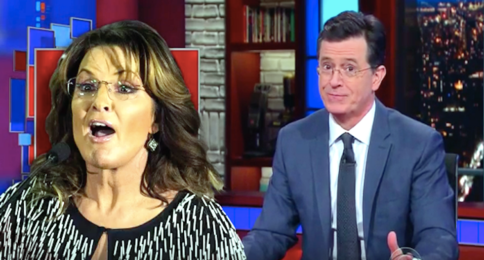 Stephen Colbert endorses every candidate, Sarah Palin-style -- and it's hilarious