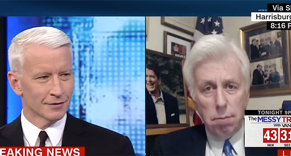 'You don't even know': Anderson Cooper stifles a laugh as floundering Jeffrey Lord invents new conspiracy