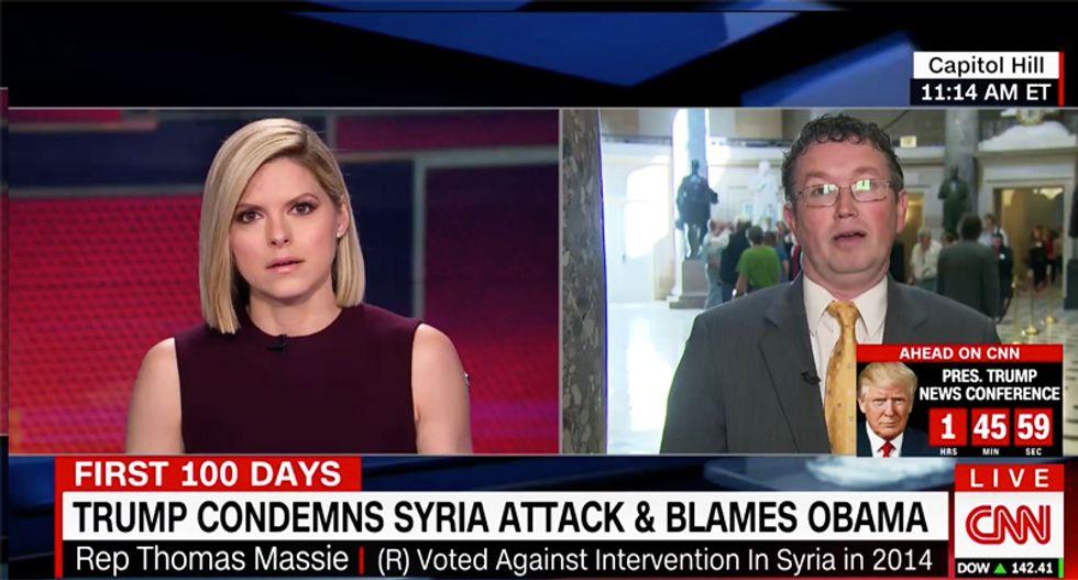 WATCH: GOP lawmaker stuns CNN host by defending Assad after hearing Syrian girl's plea for help