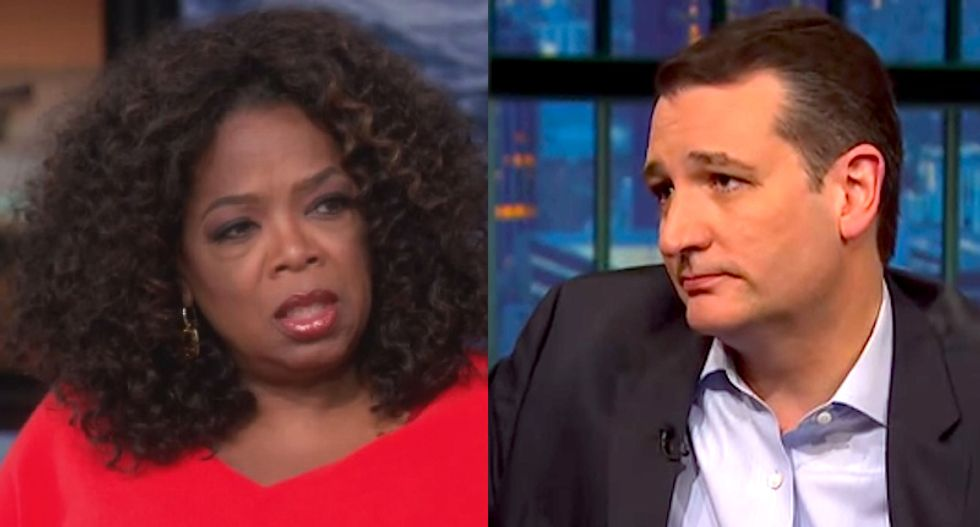 Ted Cruz touts endorsement from church founder who claims Oprah is the forerunner of the Antichrist